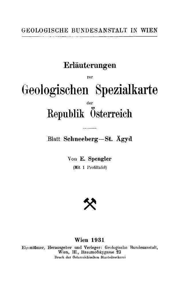 Erläuterungen zu Blatt 4855 Schneeberg und Sankt Aegyd am Neuwald