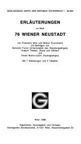 Erläuterungen zu Blatt 76 Wr. Neustadt