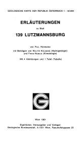 Erläuterungen zu Blatt 139 Lutzmannsburg