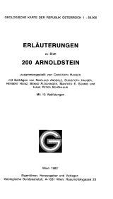 Erläuterungen zu Blatt 200 Arnoldstein