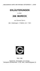 Erläuterungen zu Blatt 208 Mureck