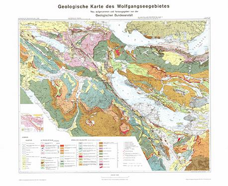 Kombination Karte und Erläuterungen: Geologische Karte des Wolfgangseegebietes 1:25.000