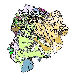 Kartographisches Modell 1:200.000 Oberpullendorf - Geologie (Pol.Bez. 108)