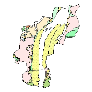Kartographisches Modell 1:200.000 Sankt Pölten (Stadt) - Geologie (Pol.Bez. 302)