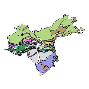 Kartographisches Modell 1:200.000 Waidhofen an der Ybbs (Stadt) - Geologie (Pol.Bez. 303)