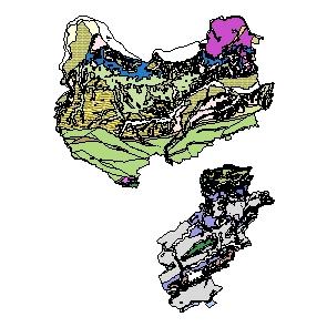 Kartographisches Modell 1:200.000 Amstetten - Geologie (Pol.Bez. 305)