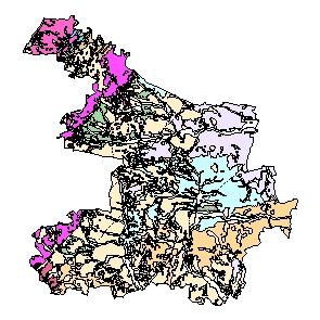 Kartographisches Modell 1:200.000 Hollabrunn - Geologie (Pol.Bez. 310)