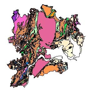 Kartographisches Modell 1:200.000 Krems (Land) - Geologie (Pol.Bez. 313)