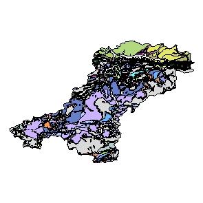 Kartographisches Modell 1:200.000 Lilienfeld - Geologie (Pol.Bez. 314)