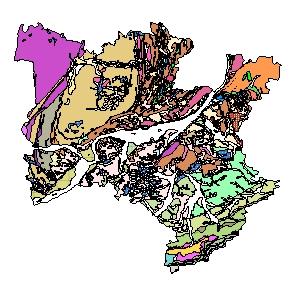 Kartographisches Modell 1:200.000 Melk - Geologie (Pol.Bez. 315)