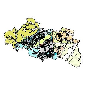 Kartographisches Modell 1:200.000 Mödling - Geologie (Pol.Bez. 317)