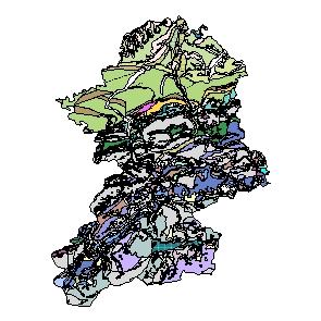 Kartographisches Modell 1:200.000 Scheibbs - Geologie (Pol.Bez. 320)