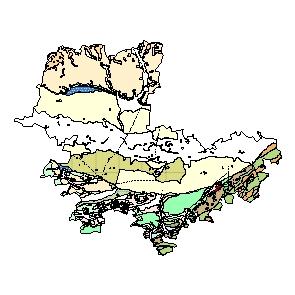 Kartographisches Modell 1:200.000 Tulln - Geologie (Pol.Bez. 321)