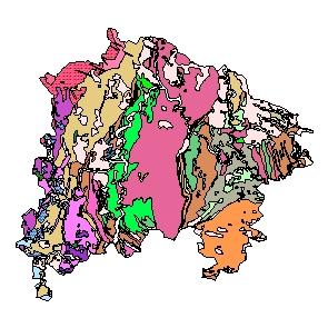 Kartographisches Modell 1:200.000 Waidhofen an der Thaya - Geologie (Pol.Bez. 322)
