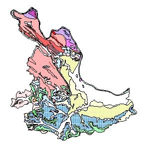 Kartographisches Modell 1:200.000 Eferding - Geologie (Pol.Bez. 405)