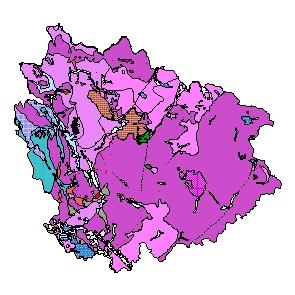 Kartographisches Modell 1:200.000 Freistadt - Geologie (Pol.Bez. 406)