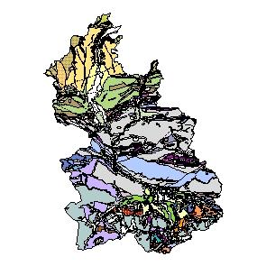 Kartographisches Modell 1:200.000 Kirchdorf an der Krems - Geologie (Pol.Bez. 409)