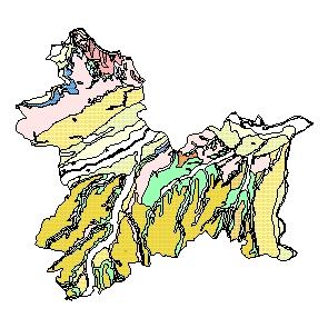 Kartographisches Modell 1:200.000 Linz-Land - Geologie (Pol.Bez. 410)