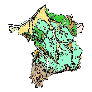 Kartographisches Modell 1:200.000 Ried im Innkreis - Geologie (Pol.Bez. 412)
