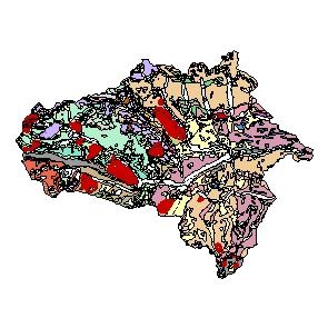 Kartographisches Modell 1:200.000 Tamsweg - Geologie (Pol.Bez. 505)