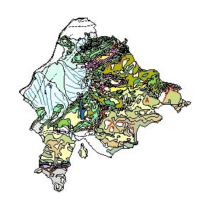 Kartographisches Modell 1:200.000 Feldkirch - Geologie (Pol.Bez. 804)