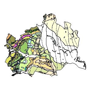 Kartographisches Modell 1:200.000 Wien (Stadt) - Geologie (Pol.Bez. 900)